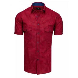 Ležérna pánska červená košeľa s náprsnými vreckami
