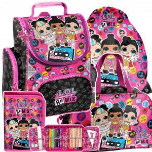 Trendový školský batoh s LOL bábikami v 4-dielnej sade