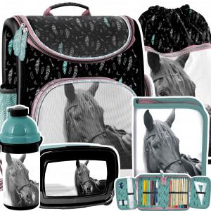 Školská 5-dielná taška s koňom