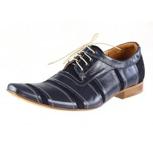 VEĽKOSŤ 40 SKLADOM Pánske kožené spoločenské topánky modré