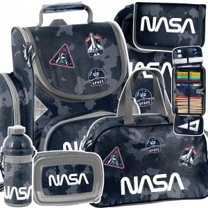 Trendy šesťčasťová školská taška NASA