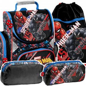 Štýlová 3-časťová školská taška so Spidermanom