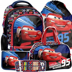 Trendový batoh CARS pre chlapcov v štvordielnej sade
