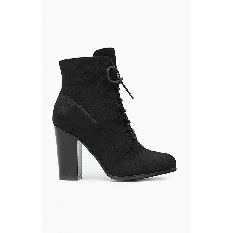 328e5ecbb97c Dámske kotníkové topánky čierne s hrubým podpätkom - fashionday.eu