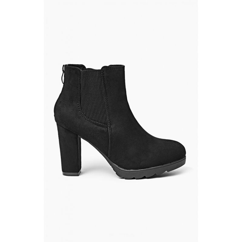 Dámska členková obuv čiernej farby s platformou - fashionday.eu 7ef3e74aae7