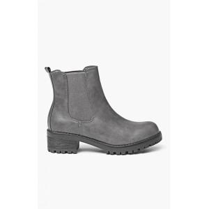 Dámska kotníková obuv sivá na nízkom podpätku