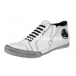 VEĽKOSŤ 40 Pánske kožené športové topánky biele