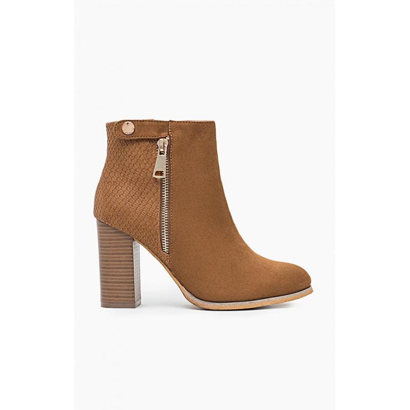 eb2754285c1d Dámske členkové topánky na vysokom podpätku - fashionday.eu