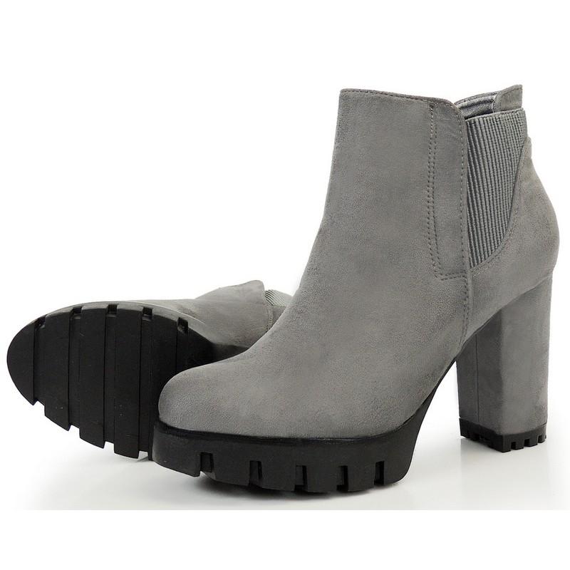 17ce998291 Semišové kotníkové čižmy na platforbe s hrubým podpätkom - fashionday.eu