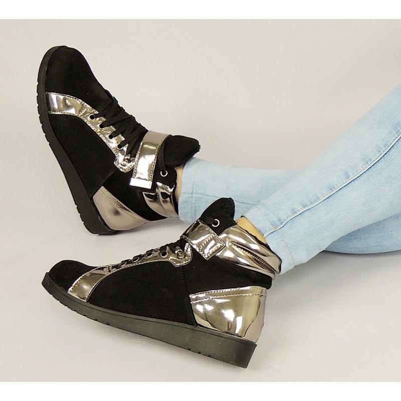 Dámske nízke zateplené športové topánky čiernej farby - fashionday.eu 57045023dde