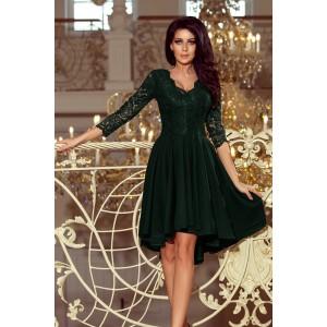 VEĽKOSŤ XXXL Luxusné plesové šaty zelenej farby SKLADOM