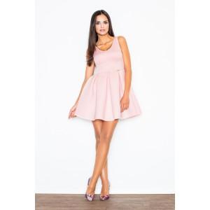 VEĽKOSŤ M Dámske šaty na svadbu áčkového strihu v ružovej farbe
