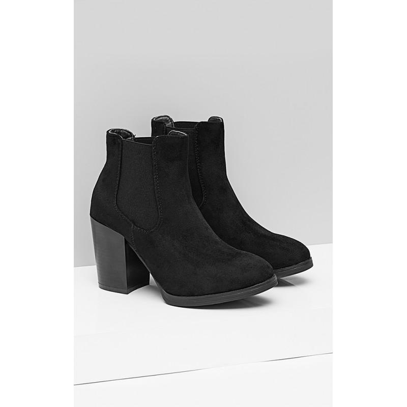 a2f531d4e9b7 Predchádzajúci. Semišové dámske kotníkové topánky s hrubým podpätkom ...