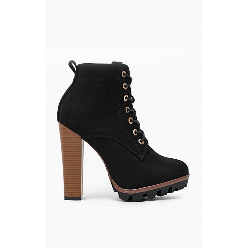 40f6332a83e9 Predchádzajúci. Dámske členkové topánky na vysokom podpätku ...