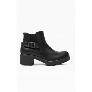 Luxusné členkové topánky pre dámy v čiernej farbe