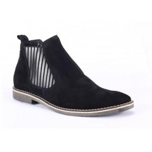 Pánska členkové topánky čiernej farby COMODO E SANO