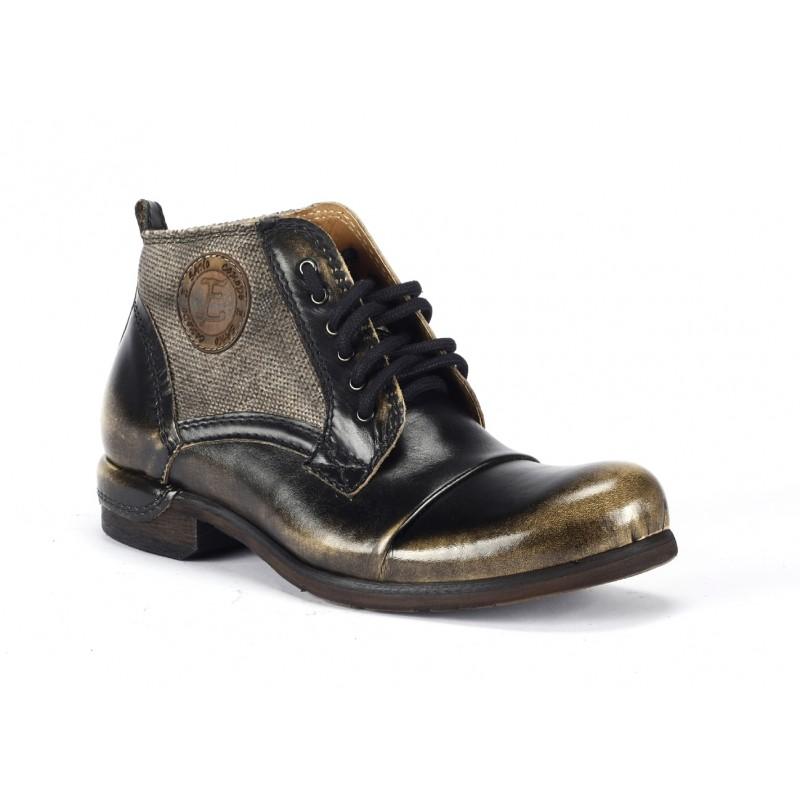 Pánske kožené členkové topánky COMODO E SANO - fashionday.eu 09ca194ce8
