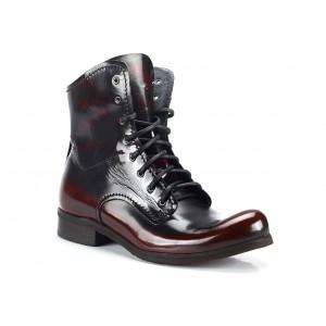 Vysoké pánske kožené topánky čiernej farby COMODO E SANO