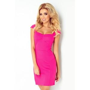 Úzke dámske koktejlové šaty ružovej farby