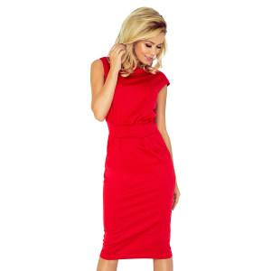 Červené dámske šaty do spoločnosti