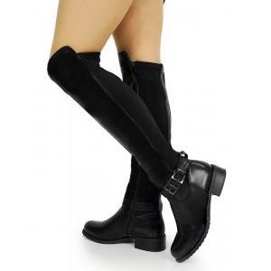 e867198b64 Klasické dámske zimné čižmy na nízkom podpätku - fashionday.eu
