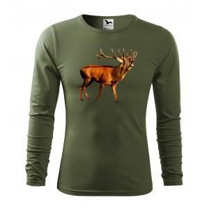 MILITAR VEĽKOSŤ S Originálne bavlnené tričko s dlhým rukávom pre vášnivého poľovníka