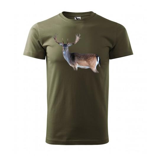 Štýlové pánske poľovnícke tričko s originálnou farebnou potlačou