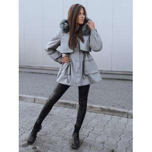 Geniálna dámska bunda na zimu áčkového strihu a kožušinovou kapucňou