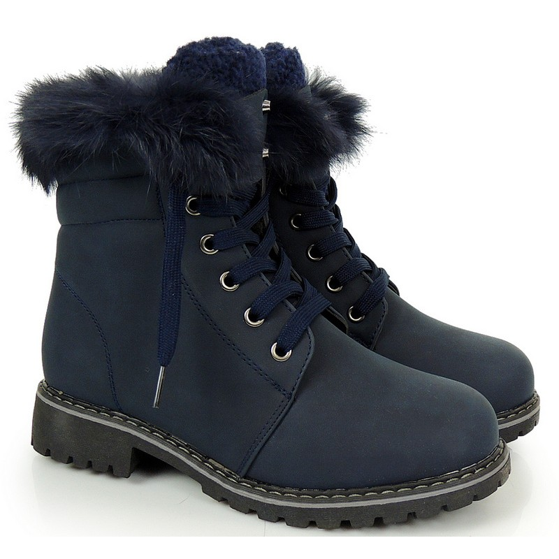 5059b85164376 Tmavo modré zimné dámske workery - fashionday.eu