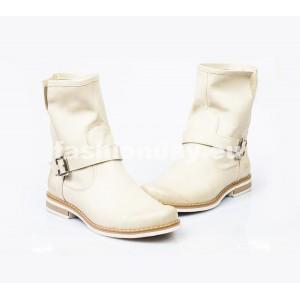 Dámske kožené topánky béžové DT006