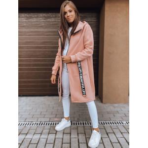 Štýlová dámska ružová oversize mikina s kapucňou