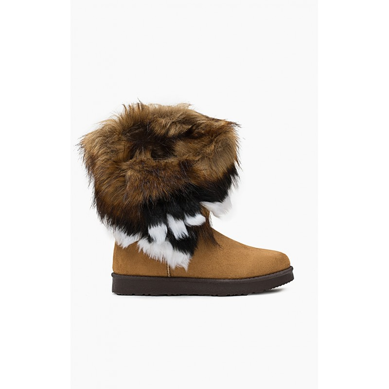 Camel dámske snehule s kožušinou - fashionday.eu 4aea3f68872