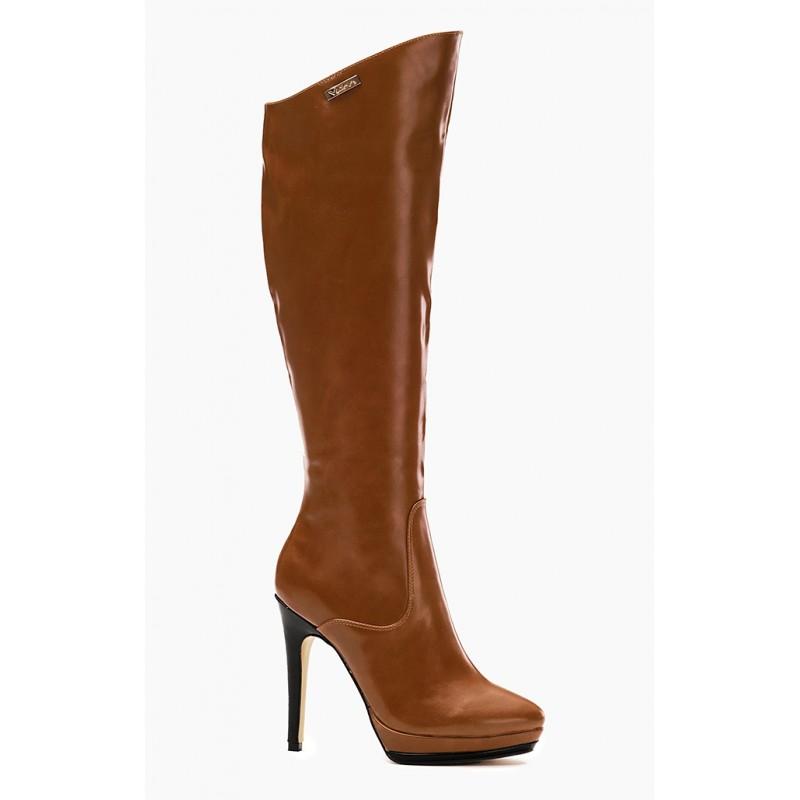 Hnedé dámske zimné čižmy na platforme - fashionday.eu d2ea55067e7