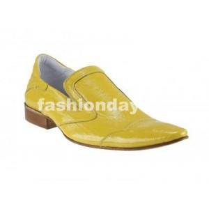 Pánske kožené extravagantné topánky žlté