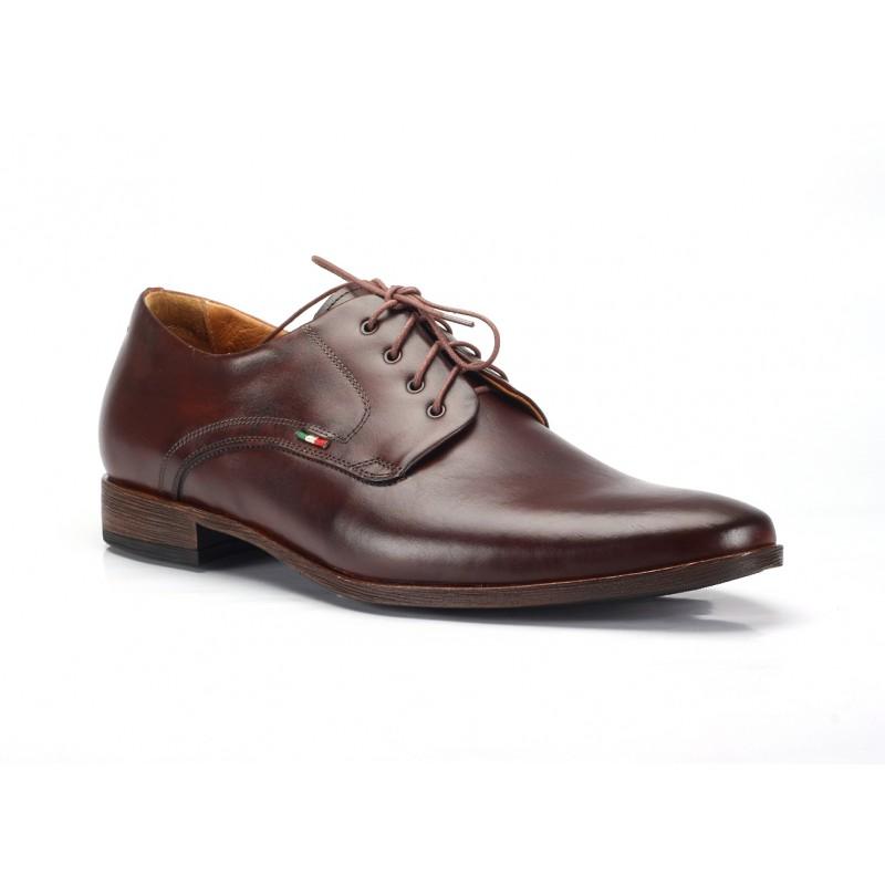 17fbe9760 Hnedé pánske kožené spoločenské topánky COMODO E SANO - fashionday.eu