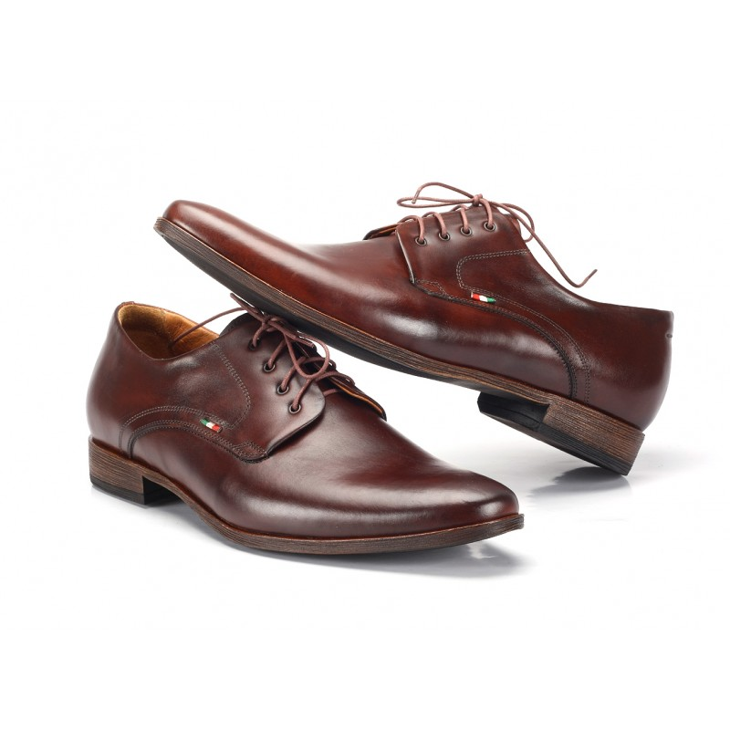 Hnedé pánske kožené spoločenské topánky COMODO E SANO - fashionday.eu 1ca3446e2f8