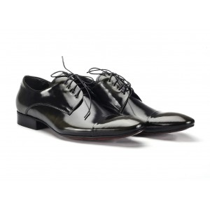 Kožené pánske spoločenské topánky čierne COMODO E SANO