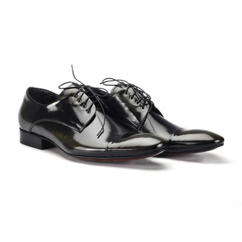 6d9aa51acd Kožené pánske spoločenské topánky čierne COMODO E SANO - fashionday.eu