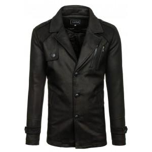 Čierny pánsky kabát na zimu