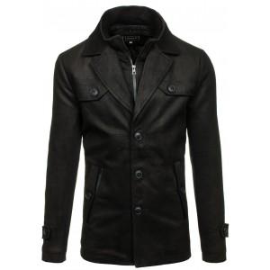 Elegantný pánsky kabát čierny