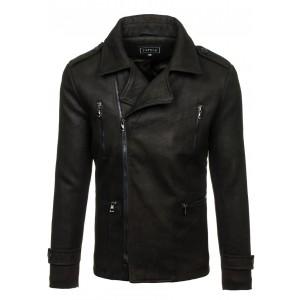 Čierny pánsky kabát na zips