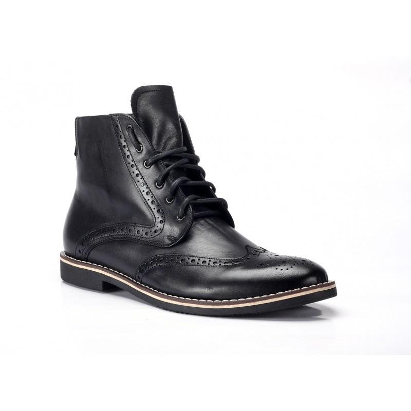 42c7e356ea Čierne pánske kožené čižmy COMODO E SANO - fashionday.eu