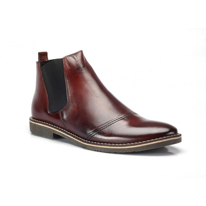 88073aae5667 Bordové pánske kožené topánky COMODO E SANO - fashionday.eu