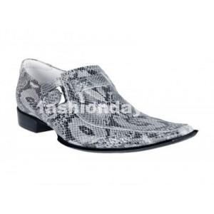 Pánske kožené extravagantné topánky sivé