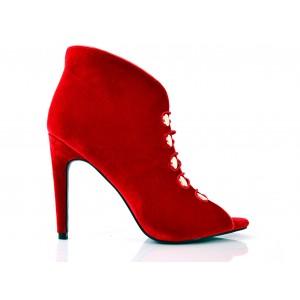 Červené dámske topánky