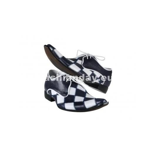Pánske topánky - tmavomodré/biele