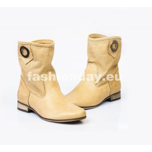 Dámske kožené topánky pieskové DT008