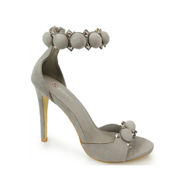 470c0124627c Sivé dámske sandále so zapínaním okolo nohy - fashionday.eu