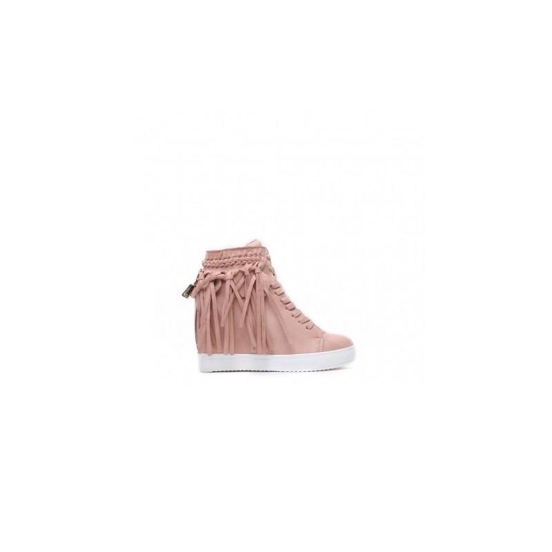 ... obuv Ružové dámske členkové topánky na vysokom podpätku. Predchádzajúci 26f0b7f26c4