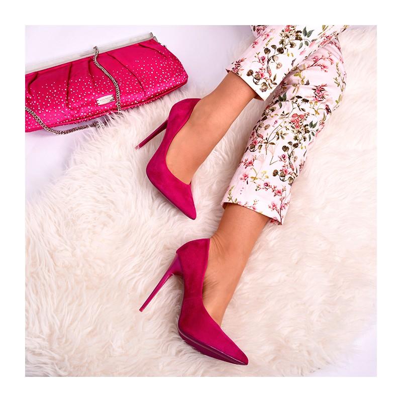 83cdb3d5b3 Ružové dámske semišové lodičky na tenkom podpätku - fashionday.eu